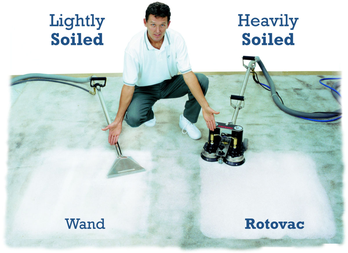 Two Professional Systems for cleaning your carpet!